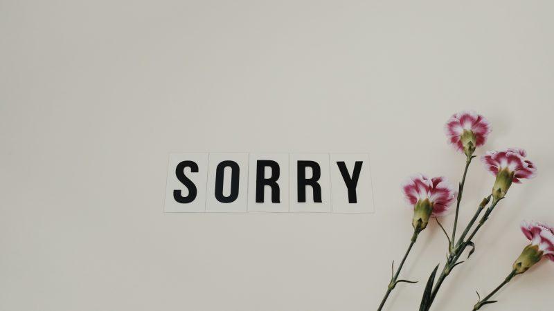Przepraszać czynieprzepraszać?